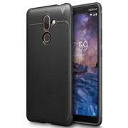 Case TECH PROTECT LEATHER for NOKIA 7 PLUS - BLACK
