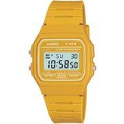 Casio Classic F-19W Collection Yellow Alarm Chronograph Watch
