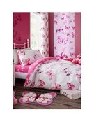 Catherine Lansfield Butterfly Duvet Cover Set - Single Pink
