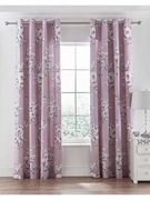 Catherine Lansfield Canterbury Eyelet Curtains Heather