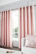 Catherine Lansfield Glitzy Eyelet Curtains - Pink