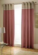 Catherine Lansfield Kashmir Easy Care Eyelet Curtains Multi, 66x72 Inch