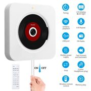 CD Player Wall-mounted bluetooth Portable Home Audio with Remote Control FM Radio