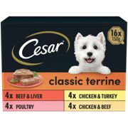 Cesar Classic Terrine Mixed Selection Wet Dog Food - 16 x 150g Packets