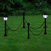 Chain Fence With Solar Lights | Solar Powered Chain Fence Lights