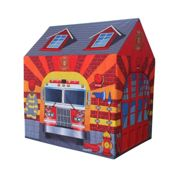 Charles Bentley Fire Station/Firefighter Play Tent/Wendy House/Playhouse/Den Multi-Coloured