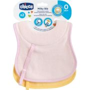 Chicco Nursing and Sucking Bib +0m Pink and Yellow 2 pieces