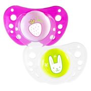 Chicco Pysio Forma Air 16-36m Silicone Set of 2+ Strawberry Rabbit Sterilisation Boxes