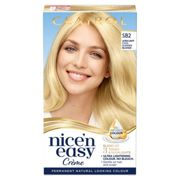Clairol Nice' n Easy Crème Natural Looking Oil Infused Permanent Hair Dye 177ml (Various Shades) - SB2 Ultra Light Cool Summer Blonde
