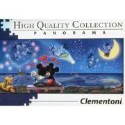 Clementoni 39449 Disney Panorama Collection Clementoni-39449-Disney Panorama Collection-Mickey & Minnie-1000 Pieces, Multi-Colour