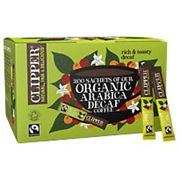 Clipper Organic Arabica Decaff Instant Coffee Sachets Freeze Dried 200 Pieces
