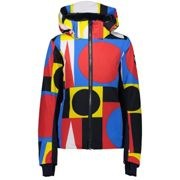 CMP Woman Jacket Zip Hood B.blue Ferrari Yellow - Ski jacket - Multicolor - taille 38