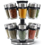 Cole & Mason Herb & Spice Carousel With 16 Filled Jars