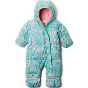 COLUMBIA Snuggly Bunny Bunt-dolphin Critter - Ski onepiece - Green/Pink - size 12/18 mois