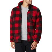 COLUMBIA Winter Pass M Print Flee Mountain Red Check - Fleece - Black/Red - size M M