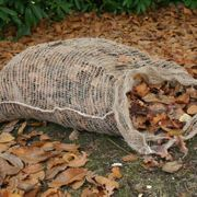 Compostable leaf sack for composting leaves single