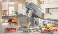 Cooks Professional 800W Stand Mixer with Stainless Steel Bowl: Silver