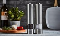 Cooks Professional Salt and Pepper Mill Set: Silver
