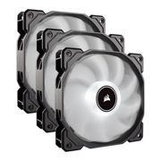 Corsair AF120 Triple 120mm White LED 3pin Cooling Fans 2018 Edition