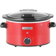 Crock-Pot CSC037 Slow Cooker with Hinged Lid, 3.5 Litre, Red