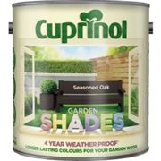 Cuprinol Garden shades Seasoned oak Matt Wood paint 2.5L