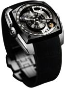Cyrus Watch Klepcys Titanium DLC White Gold Moon Limited Edition Black