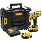 """DeWalt DCF894 18v XR Cordless Brushless 1/2"""" Drive Compact High Torque Impact Wrench 2 x 5ah Li-ion Charger Case"""