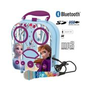 Disney Frozen II Karaoke Machine, with Frozen Mic. Kids Portable Boombox Style. Music from Bluetooth, Smart Phone, Tablet, AUX IN, USB, Micro SD