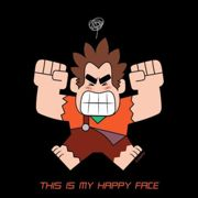 Disney Wreck it Ralph This Is My Happy Face Men's T-Shirt - Black - XXL - Black