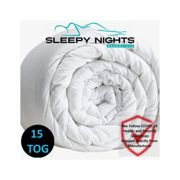 (Double) Hot Winter Warm Duvet 15 Tog Non Allergenic Hollowfibre Corovin Quilt