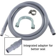 Drain Hose Extension Pipe Kit for Miele Washing Machine Dishwasher (2.5m, 19mm / 22mm)