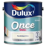 Dulux 1.25L Once Gloss, Pure Brilliant White