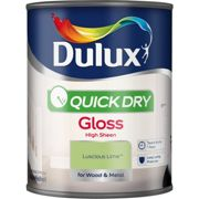 Dulux 750ml Quick Dry Gloss Sheen Paint, Luscious Lime