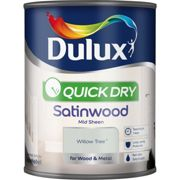Dulux 750ml Quick Dry Satinwood Paint, Willow Tree