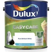 Dulux Easycare Kitchen Matt Emulsion Paint For Walls And Ceilings - Pure Brilliant White 2.5L