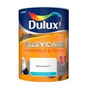 Dulux Easycare Washable & tough White cotton Matt Emulsion paint 5L