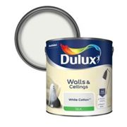 Dulux Luxurious White cotton Silk Emulsion paint 2.5L