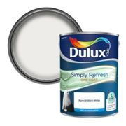 Dulux One coat Pure brilliant white Matt Emulsion paint 5L
