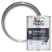Dulux Trade Diamond Pure brilliant white Matt Emulsion paint 5L