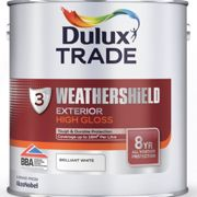 Dulux Trade Weathershield Exterior High Gloss White 2.5 Litres
