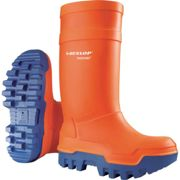 Dunlop Purofort Thermo+ Orange Wellington Boots Size 10 (44)