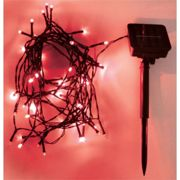 Eagle LED Solar Powered Outdoor String Lights 100 LED's 10m Length - Colour Red