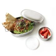 Ecolunchbox - Stainless Steel Oval and Snack Cup Lunchbox - stainless steel