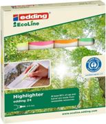 Edding 24 EcoLine Highlighter Assorted PK4