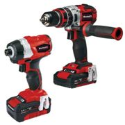Einhell Power X-Change Einhell Power X-Change Combi Drill & Impact Driver Twinpack with 1 x 2.0Ah, 1 x 4.0Ah batteries