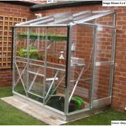 Elite Greenhouses Windsor 4 x 6 Lean to Greenhouse Package Deal