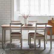 Emily 186cm-236cm Mahogany Extending Dining Table - Taupe