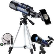ESSLNB Telescope for Kids 70mm Refractor Telescope with Smartphone Adapter 51.6in Tripod Astronomical Telescopes for Astronomy Beginners Adults