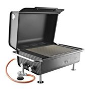 Eva Solo Box Gas Grill - black/stainless steel/50mbar/cooking surface 31x37cm/LxWxH 60x40x34cm/for Germany and Austria