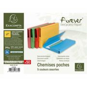 Exacompta Forever Document Wallets A4 2 Packs of 50 290gsm Assorted, white